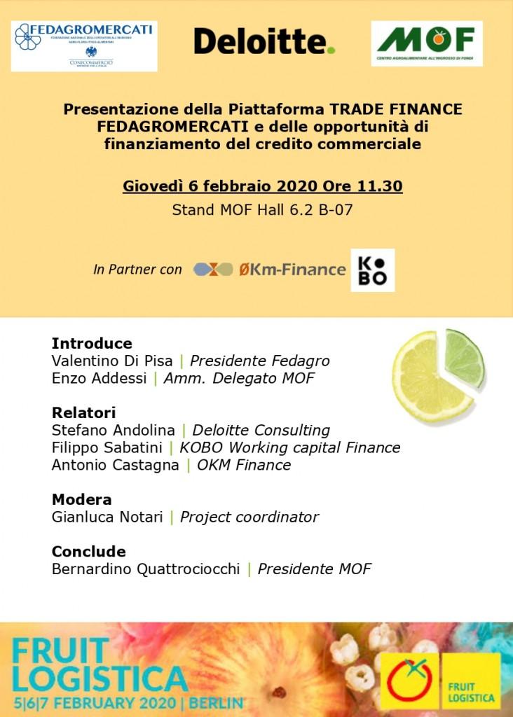 Save the date_Presentazione Piattaforma Trade Finance Fedagro_6.02.2020