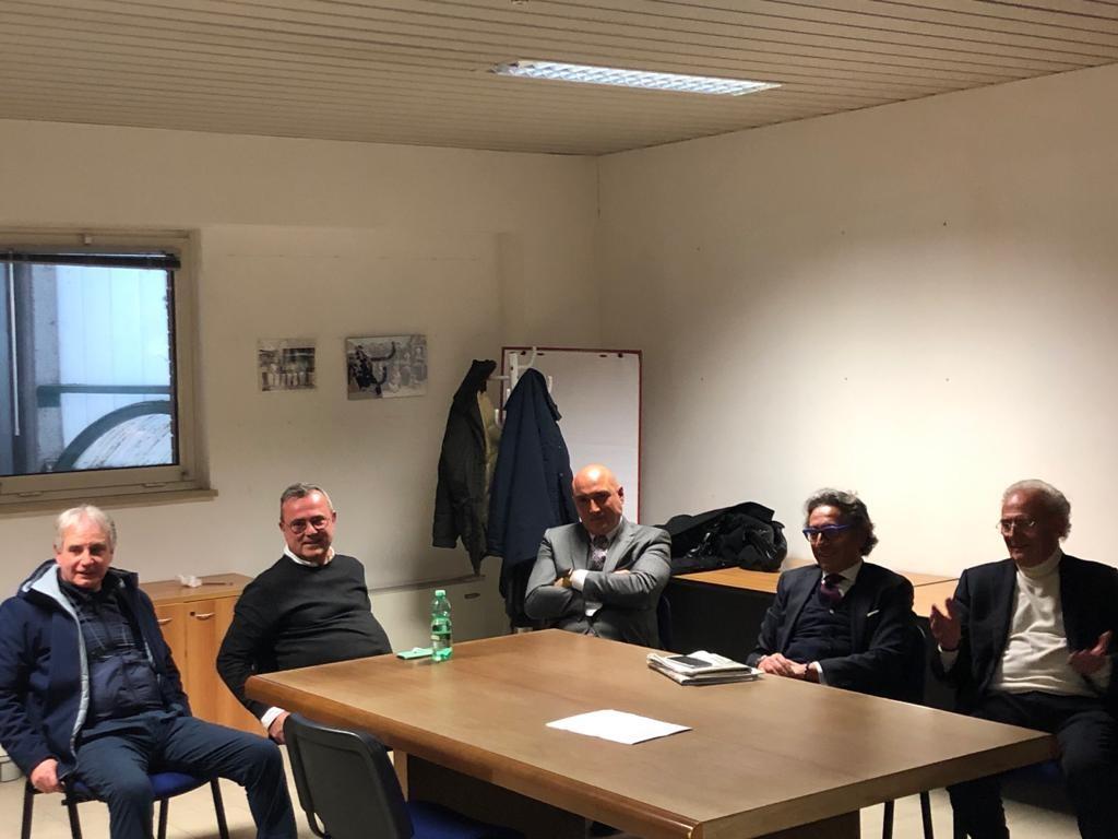Da sinistra: Walter Arcangeli, Riccardo Pompei, Luigi Cofone, Valentino Di Pisa, Ottavio Guala